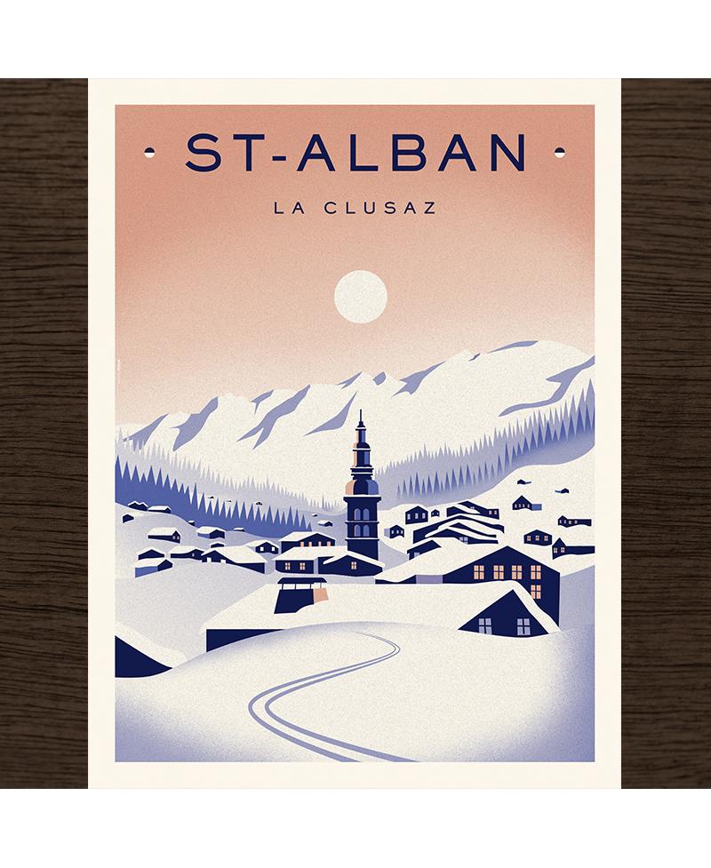 Poster La Clusaz - Church
