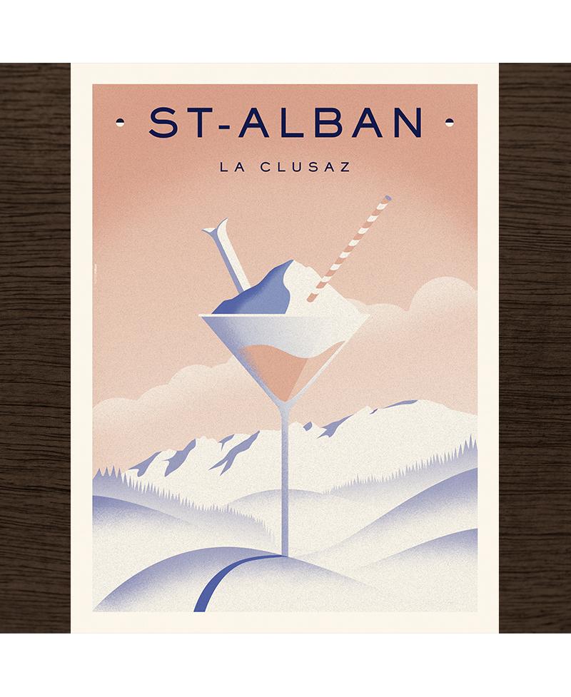 Poster La Clusaz - Cocktail